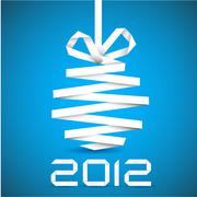 Simple vector christmas decoration made from paper - stock illustration