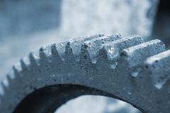Old rusty cogwheel - stock photo