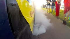 Drag Race Burnout Stock Footage
