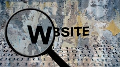Search for website - stock footage