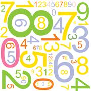 background with numbers - stock illustration