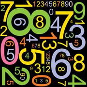 Abstract background with numbers - stock illustration