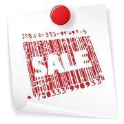Paper sale announcement Stock Illustration