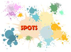 Vector color spots background - stock illustration