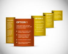 Set of  Vector Sample option paper origami Stock Illustration