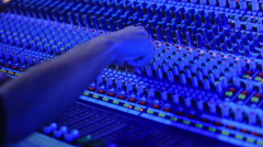 Hand of the sound producer Stock Footage