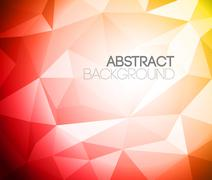 Colorful folded paper background - stock illustration