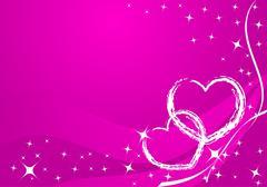 Vector valentine card - stock illustration