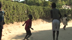 Cute Kids laugh and run in village in Kitwe, Zambia - stock footage