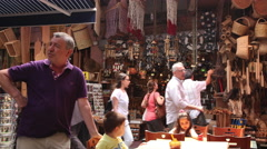 Crowded street beside Egyptian Bazaar, Istanbul. Time lapse Stock Footage