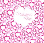 valentine's day card - stock illustration