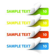 Vector Sample stickers - stock illustration