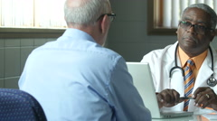 Doctor patient 2 Cliff Stock Footage