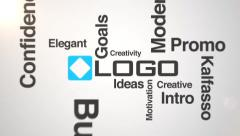 Business Logo & Words 3d Fly Through Forming Modern Text Typography Mosaic Intro Stock After Effects