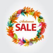 Autumn Sale Concept Vector Illustration Stock Illustration