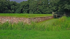 Disused moat to manor house Stock Footage