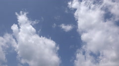 Puffy Clouds Over Head - stock footage