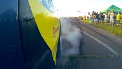 Slow motion Drag Race Burnout Stock Footage