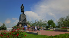 Sevastopol, Crimea. A monument to Admiral Nakhimov. Stock Footage