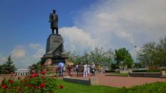 Sevastopol, Crimea. A monument to Admiral Nakhimov. - stock footage