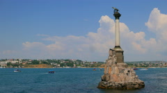 Sevastopol, Crimea. Sunken Ships Monument. - stock footage