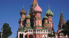 St Basil's Cathedral (in 4k), Red Square, Moscow, Russia. Stock Footage