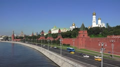 The walls and towers of the Kremlin (in 4k), Moscow, Russia. Stock Footage
