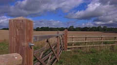 English countryside field farm fences and gates Stock Footage