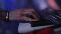 Hands playing the piano Stock Footage