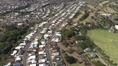 Aerial View of Housing Subdivision on O'ahu Island, Hawaii  4K Stock Footage
