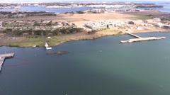 Aerial View of USS Utah Memorial, Pearl Harbor, Hawaii   4K Stock Footage