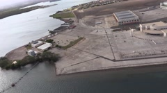 Aerial view of Pearl Harbor, Hawaii  4K Stock Footage