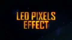 LED Pixels Light Effect - stock after effects