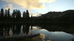 Sunrise in the Uinta Mountains at Butterfly Lake. Stock Footage