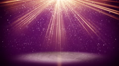 Violet light beams and particles loopable background 4k (4096x2304) Stock Footage