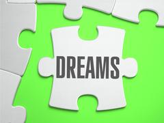Dreams - Jigsaw Puzzle with Missing Pieces Stock Illustration