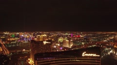 Wynn Casino- Las Vegas aerial footage over the Top Stock Footage