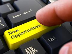 New Opportunities - Concept on Yellow Keyboard Button Stock Illustration