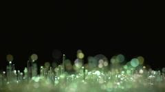 Macro - Fiber Optic Tips - stock footage
