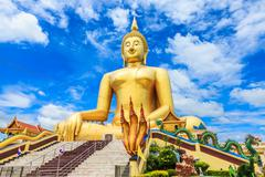 Biggest Seated Buddha Image - stock photo