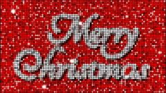 Merry Christmas Greetings - seamless looping Stock Footage