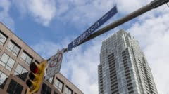 Yonge & Eglington St Sign Stock Footage