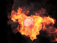 Stock Illustration of Sphere in fire