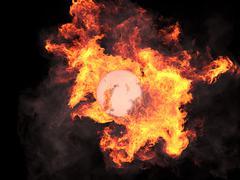 Stock Illustration of Sphere in fire