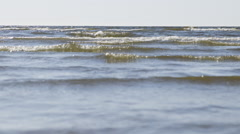 Baltic sea coast with waves Stock Footage