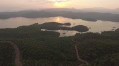 Aerial video of English Harbor in Gokova Gulf Bodrum Turkey Stock Footage