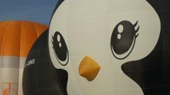 Penquin closeup balloon Stock Footage