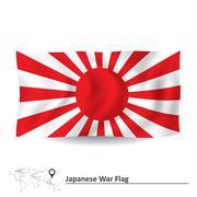 Flag of Japanese War - stock illustration