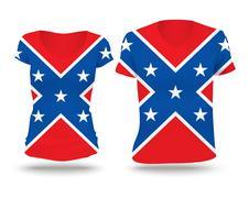 Confederate flag shirt design Stock Illustration