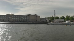Bristol docks boat ride Stock Footage